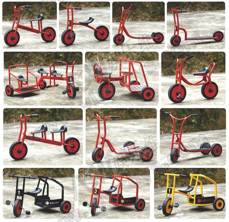学校自転車、子供 3 輪スクーター、子供鋼輪タクバイク -