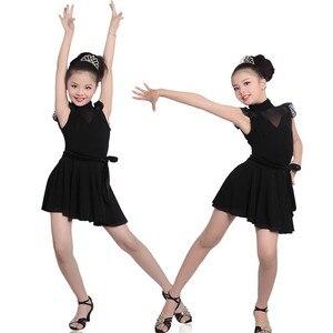 Image 3 - Girls Dance Dresses Child Dance Costume Salsa Tango Dress Mesh Sexy Dress For Ballroom Dance
