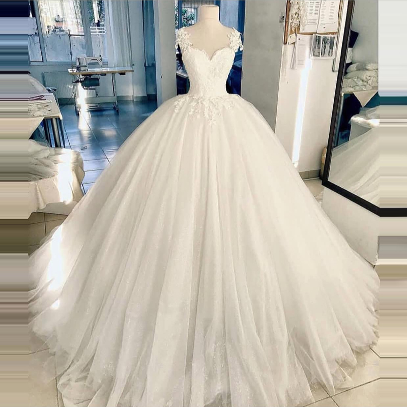 Gelinlik Wedding Dress 2019 Princess Ball Gown Vestido De Noiva  Lace Bridal Gowns Robe De Mariage