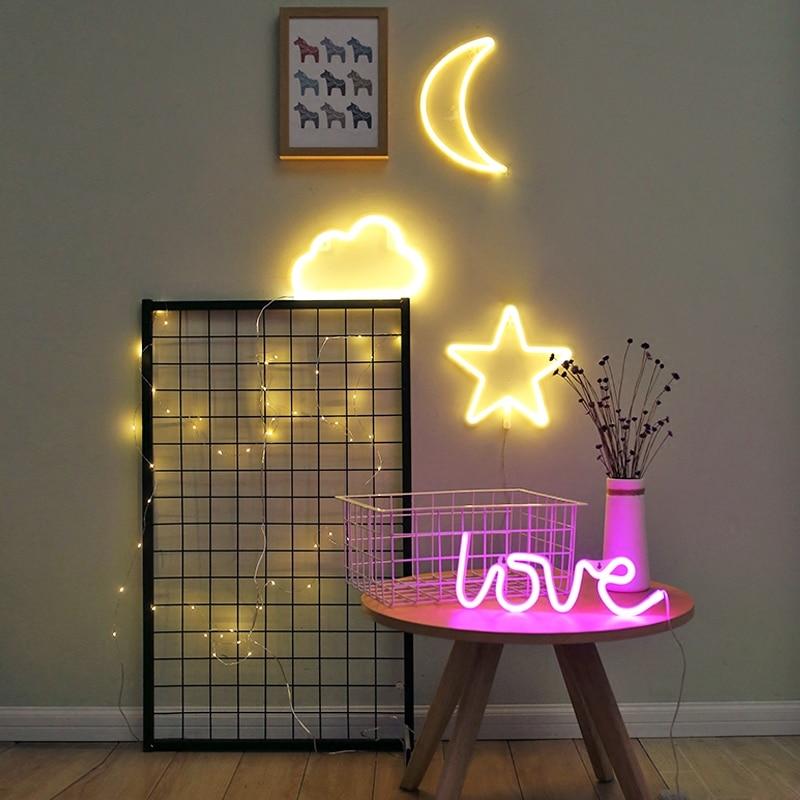 Luzes da Noite novidade ins amor carta neon Feature 3 : Neon Pink