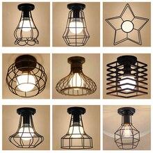 Lâmpada de teto moderna de ferro forjado, e27, led, lâmpadas de teto pretas, para cozinha, sala de estar, quarto, estudo, aisle, restaurante, café, hotel