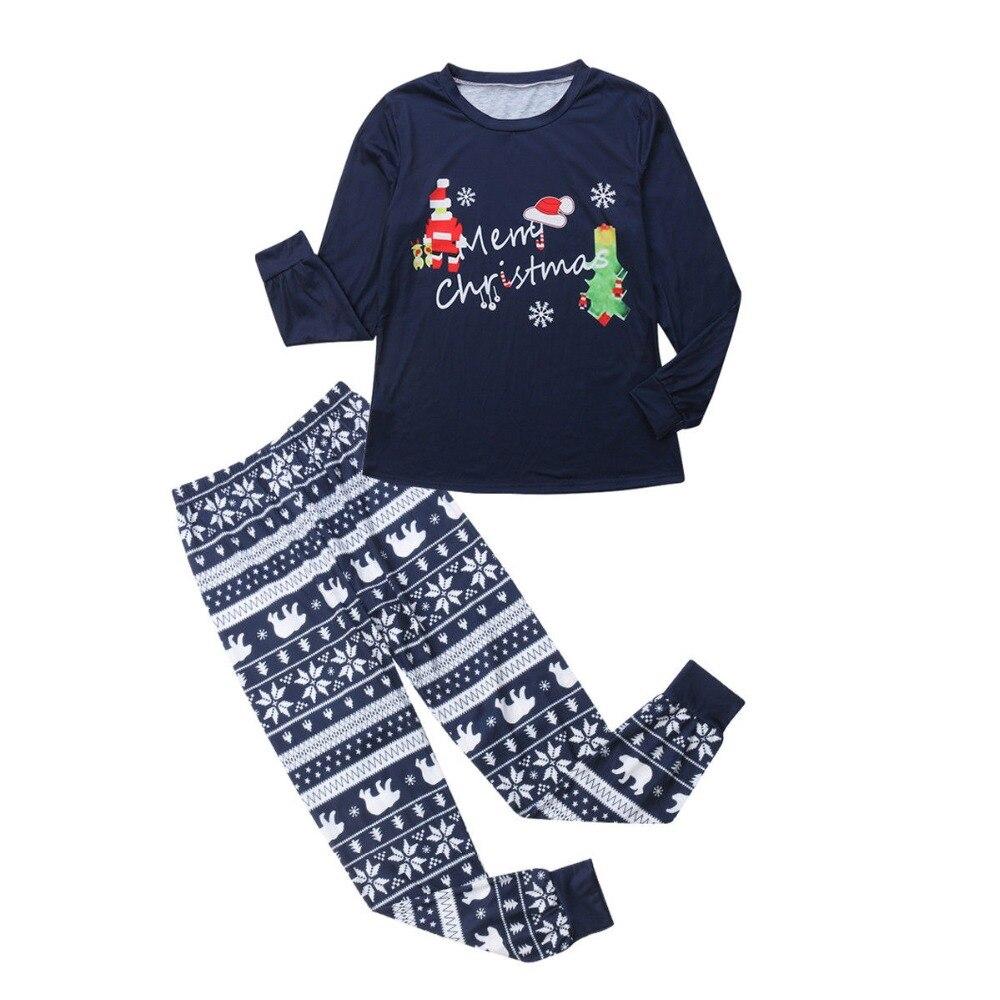 Parent-child-Family-Matching-Christmas-Pajamas-Set-Men-Women-Baby-Kids-Sleepwear-Nightwear (2)
