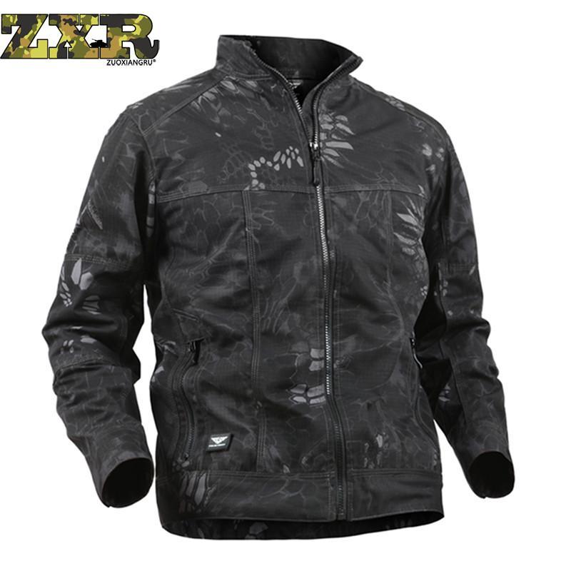 Grande taille armée vêtements tactiques randonnée vestes coupe-vent hommes printemps automne veste imperméable résistant à l'usure coupe-vent randonnée vestes