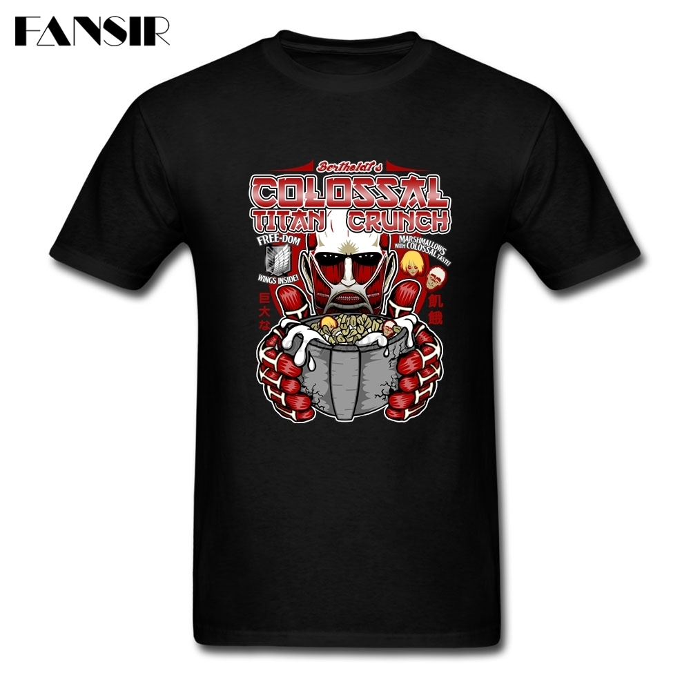 Attack On Titan Japanese Anime Men T Shirts Funny T-shirt Men Short Sleeve Crewneck Cotton XS – 3XL