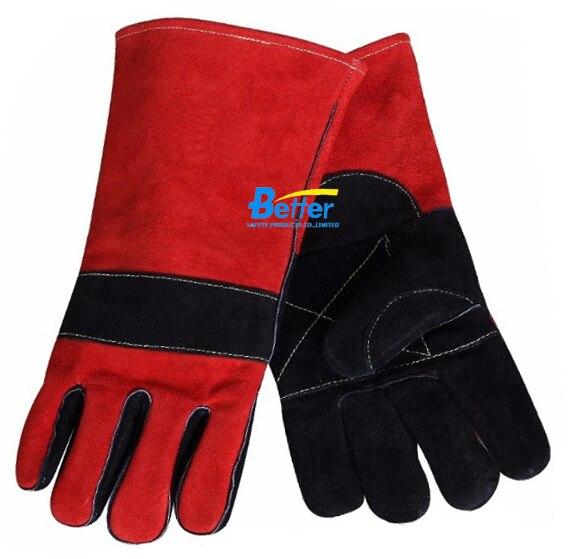 Leather Work Gloves TIG MIG Gloves Split Cow Leather Welding Gloves tig mig safety glove split cow leather welding work glove