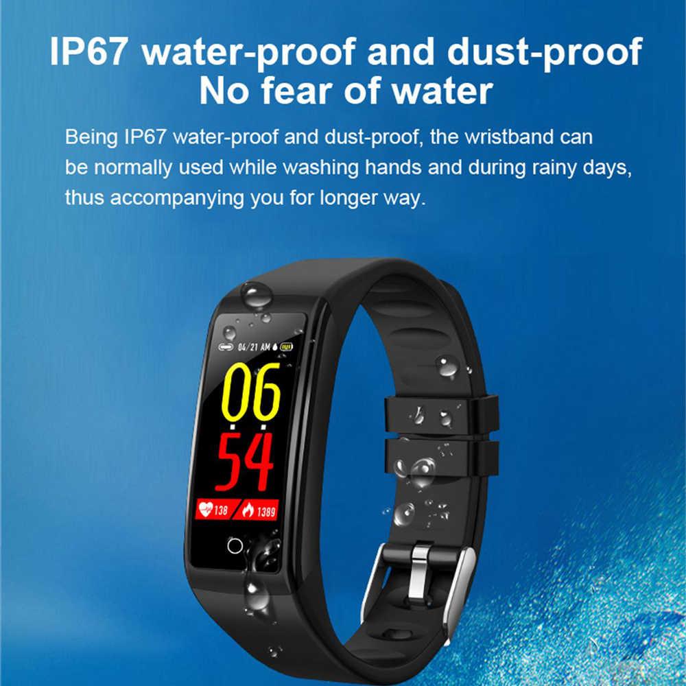 H3 Olahraga Smart Watch Gelang Tahan Air Tekanan Darah, Denyut Jantung, Layar Warna Langkah Multifungsi
