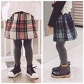 Wholesale New 2016 Europe and America Hot ins autumn girls cotton plaid skirts