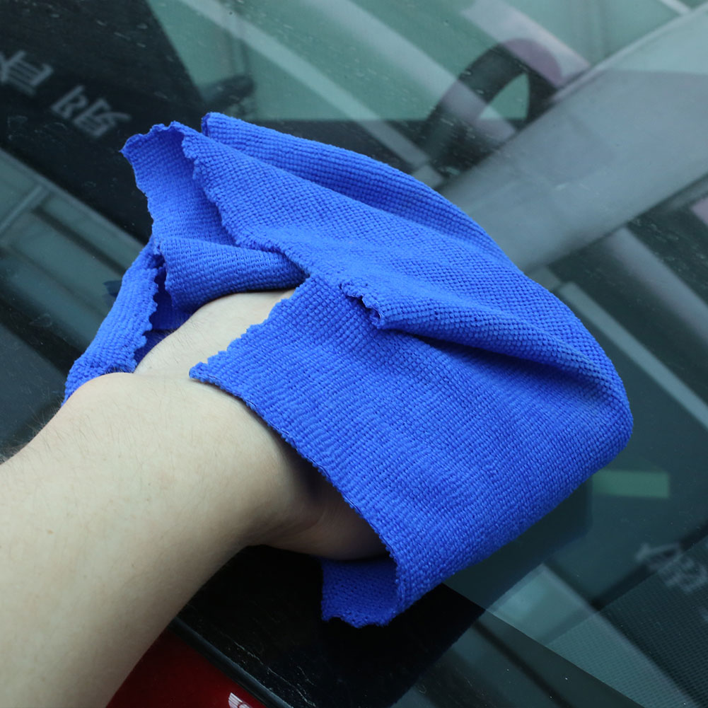 Vehemo 30*30CM Microfibre Cleaning Cloth Towel Car Vehicle Washing Water-Absorbing