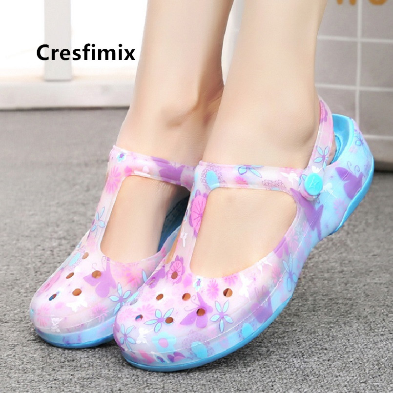 Cresfimix lady cute high quality summer floral shoes women fashion sweet spring shoes teenager shoes zapatos de mujer a5263b