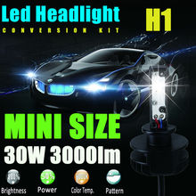 New 2x H1 12V 24V 30W 3000Lm Led Headlight Bulb Headlamp Kit 6000K White High Power Light Lamp to Replace Xenon Hid Halogen Fog