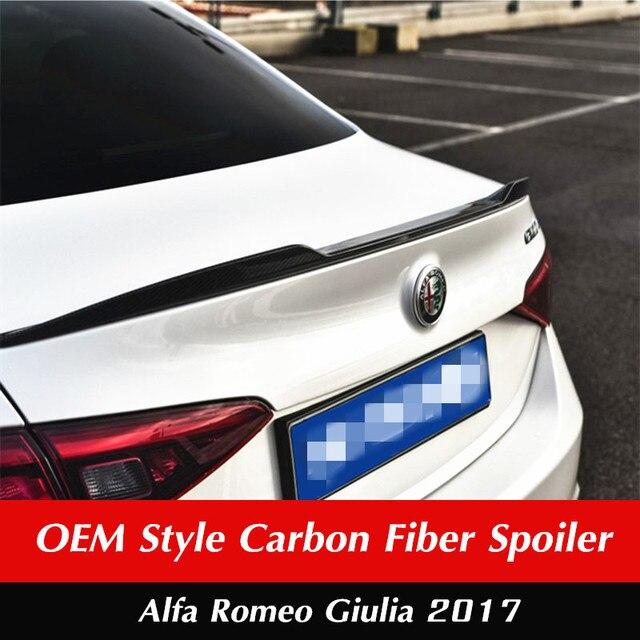 For Alfa Romeo Giulia Rear Trunk Spoiler Carbon Fiber Rear Trunk