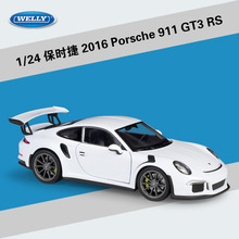 цена на Welly 1:24 Scale Simulator Model Car Alloy Porsch 911(997) GT3 RS Sports Car Diecast Metal Toy Racing Car For Kid toys Gift
