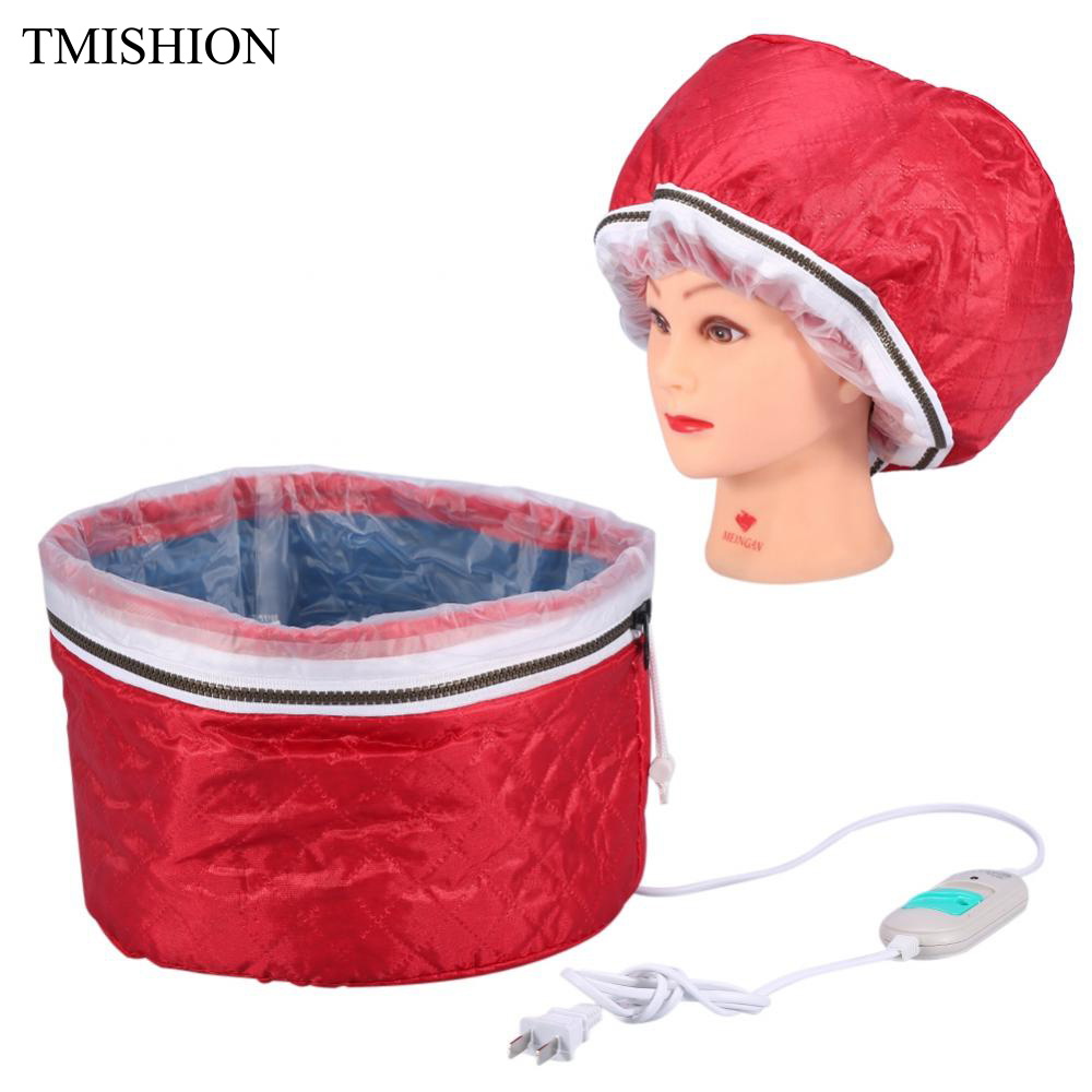 Hair Mask Steamer Heating Cap Hat Salon Spa Hair Thermal Treatment Nourishing Hair Baking Oil Cap Hair Dryers Heat Hat Safety concept intense nourishing mask with flax oil