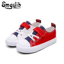 Kids Canvas Shoes Contrast Color Children Boys Sport Trainers Casual Baby School Flat Sneaker 2018 Girls Toddler
