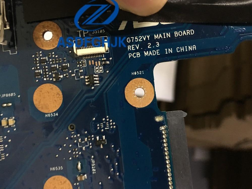 G752VY laptop Motherboard for asus G752 G752V G752VY G752VT G752VL Mianboard with I7-6700HQ GTX980M 4GB N16E-GX-A1  motherboard