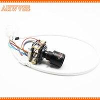 Varifocal 2 8 12mm Lens CCTV POE IP Camera Module Board PCB 1080P IRCUT LAN Cable