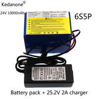 NEW 24V 10Ah 6S5P 18650 Battery liion battery 25.2v 10000mAh electric bicycle moped /electric/lithium ion battery pack+2ACharger