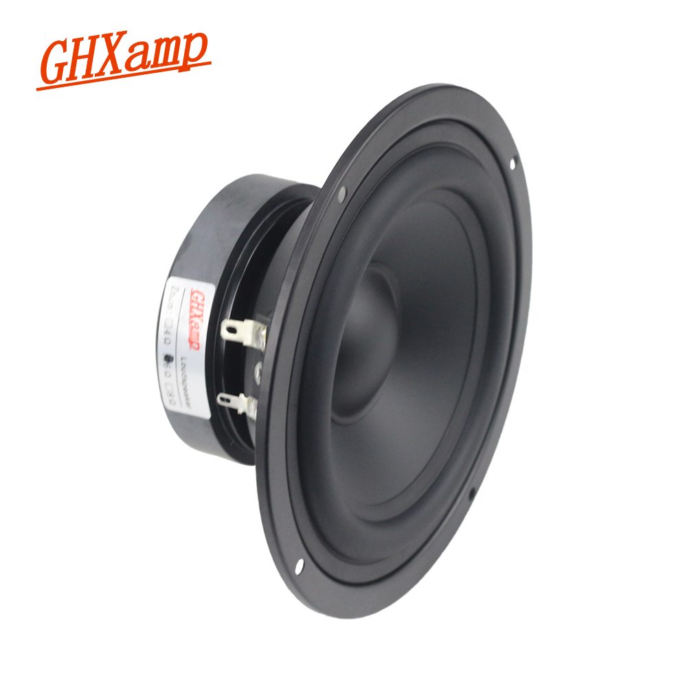 GHXAMP 5 INCH 6OHM 70W Pure Midrange Speaker Unit Home Theater Alto Mediant HIFI Bookshelf MID Units DIY 87db 1PCS