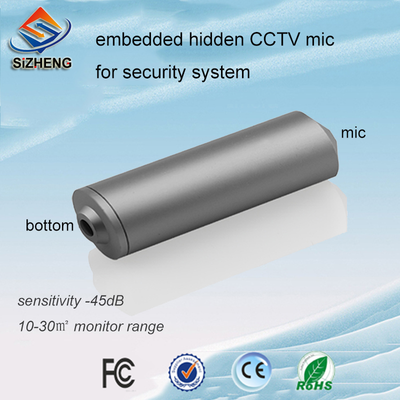 SIZHENG COTT C2 Embedded audio monitor CCTV sound micrphone listening device for video surveillance DVR security cameras
