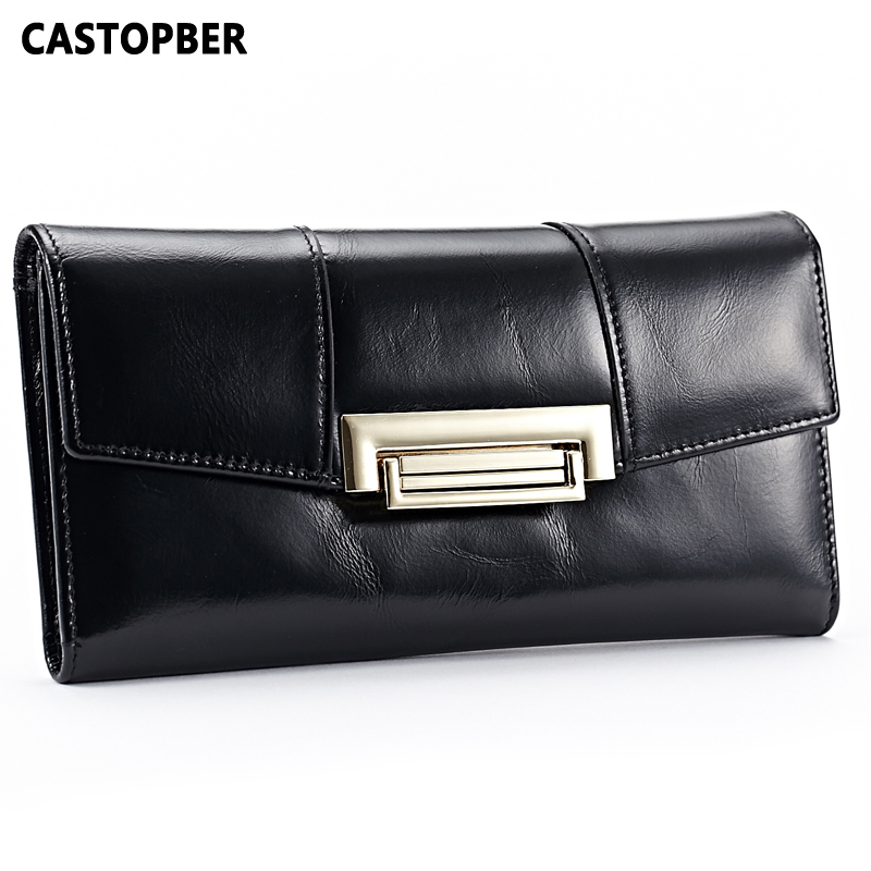 First Layer Cowhide Genuine Leather Oil Wax 3 Fold Wallets Clutch Vintage Fashion Ladies Purse Female Famous Brand High Quality first layer cowhide genuine leather oil wax 3 fold wallets clutch vintage fashion ladies purse female famous brand high quality