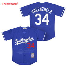Throwback Jersey Men's Movie Los Angeles Jersey Valenzuela Baseball Jerseys Shirt Stiched Size S-XXXL Wholesale Free Shipping new baseball jersey bruno mars 24k hooligans bet awards baseball jersey stitched men throwback baseball jerseys viva villa
