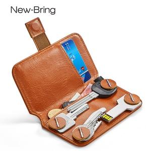 Image 1 - Новый держатель для ключей, кожаный кошелек, сумка для ключей, смена банковских карт, коллекционная карта, экономка