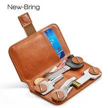 Nieuwe Brengen Sleutelhouder Lederen Portemonnee Sleutel Tas Verandering Bank Card Access Card Collectie Plaats Huishoudster