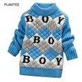 BOY Suéter de la Letra impresa para Niños Lindo Abrigo de Patchwork Niños Suéter Suéter Del O Cuello de Manga Larga Suéteres de Los Niños Suave Nuevo escudo