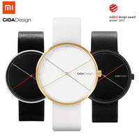 Xiaomi CIGA Design Quartz Wristwatch Women Men Couple Watch Reddot Winner Fashion Luxury Gold Black Retro Leisure Leather Strap