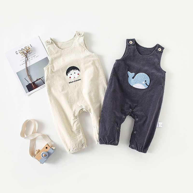 2018 New Autumn Kids Overalls Children Pants Corduroy Cotton Trousers for Baby Boy and Girl Clothing Baby Cartoon Bib Pants цена