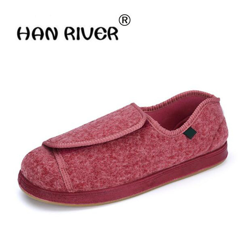 2018 Spring Autumn Hot Selling Women's S Comfortable Diabetic Shoes For Foot Care Breathable Flat Heel, Shoes For Diabetics  Red
