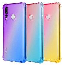 Transparent Soft TPU Case for Huawei Nova 4e 3i Full Cover Rainbow Gradient Airbag Shcockproof Phone 4 3