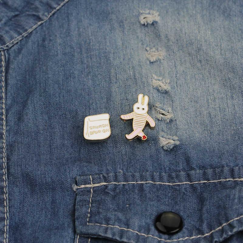 Bugs Bunny Pin Set Perempuan Lucu Hewan Enamel Bros Wanita Pin Kartun Lencana Hadiah Anak Srur Bruk GH Bros kerah Tas Pesta