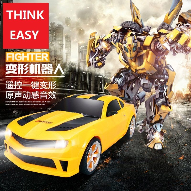 ThinkEasy RC Transformation 4 electric Toys one key remote control prime children robot car action figures class Boys Gift 2