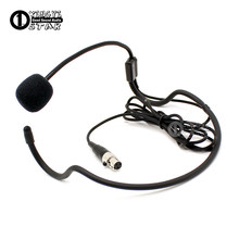 Mini XLR 3 Pin TA3F Stecker Headworn Mic Ohrbügel Kondensator Headset Mikrofon Für SAMSON Wireless System Bodypack Sender(China)