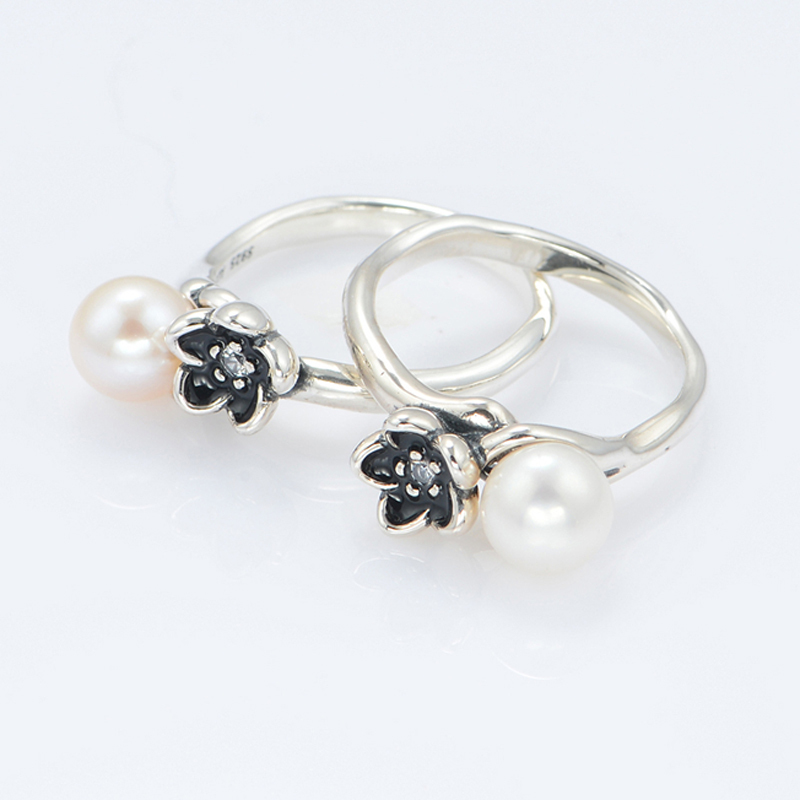 64ca6e8dd ... sale new original 925 sterling silver ring mystic flower with pearl  engagement party ring compatible with coupon code for ...