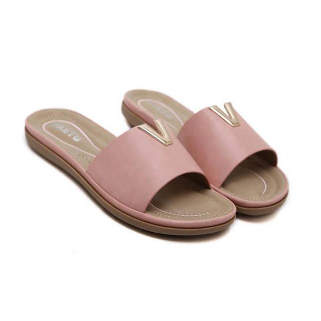 4510e1d5a36b placeholder SIKETU Metal decoration Women Summer Beach Shoes Woman Slippers  Flat Heels Flip Flops Ladies Rihanna Bohemia