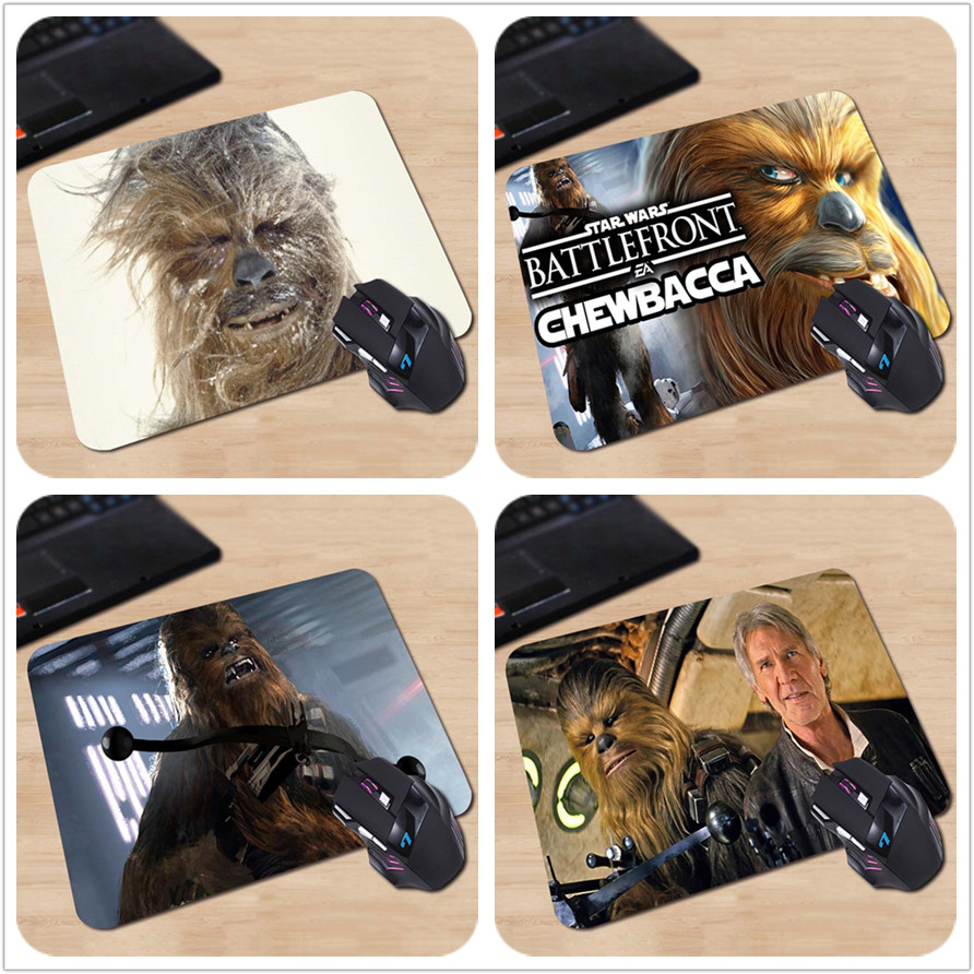Chewbacca Star Wars Gaming Desk Mat Personalized Durable Mouse Pads Rubber Mouse Pad 180*220*2mm or 250*290*2mm Gaming Mice Mat ...
