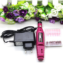 Nail Art Electric Pen Buffer Drill Shaper Machine 6 Bits File Manicure Tool Set