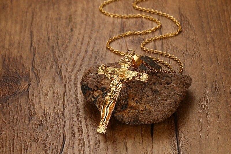 Купить классическое крест иисуса ожерелье для мужчин ожерелья подвески