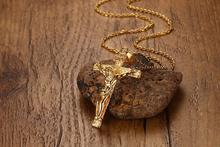 Классическое Крест Иисуса ожерелье для мужчин ожерелья подвески