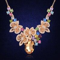 Luxuoso Colar gargantilha Collier Jóias Colares Vintage & Pingentes Áustria Cristal de Alta Qualidade Presente do Dia Das Mães