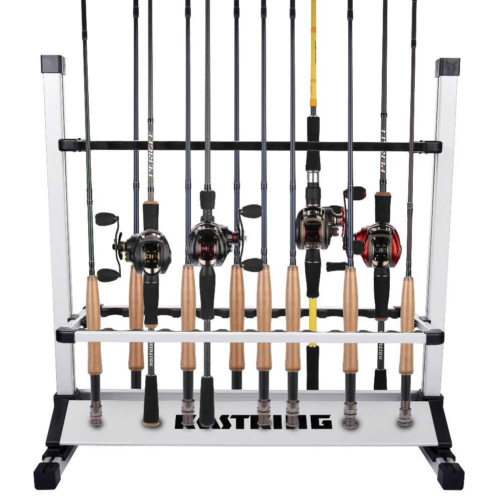 KastKing Aluminum Fishing Rods Holder Rack for Any Fishing Reel Combo Size 72.39*73.66*33.02cm Capacity 24pcs Rod
