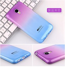 Hot Gradient Color Soft TPU Silicon Back Cover Case for MeiZu M1 M2 M3 Note M2