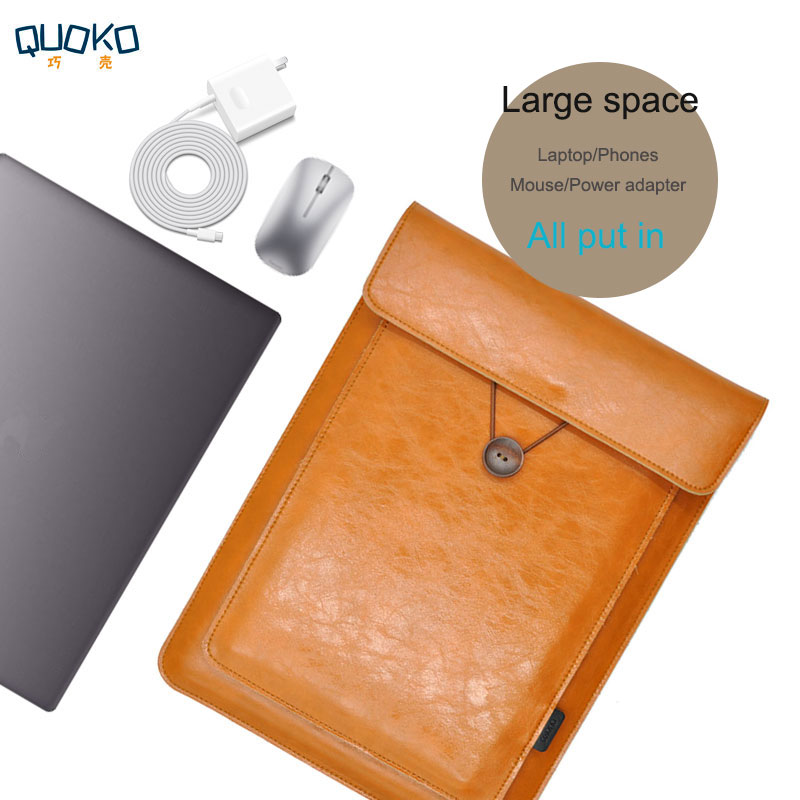 Double Layer High Capacity Laptop Bag Cover,Microfiber Leather Laptop Sleeve Case For Huawei MateBook X Pro 13.9 MateBook 13/14