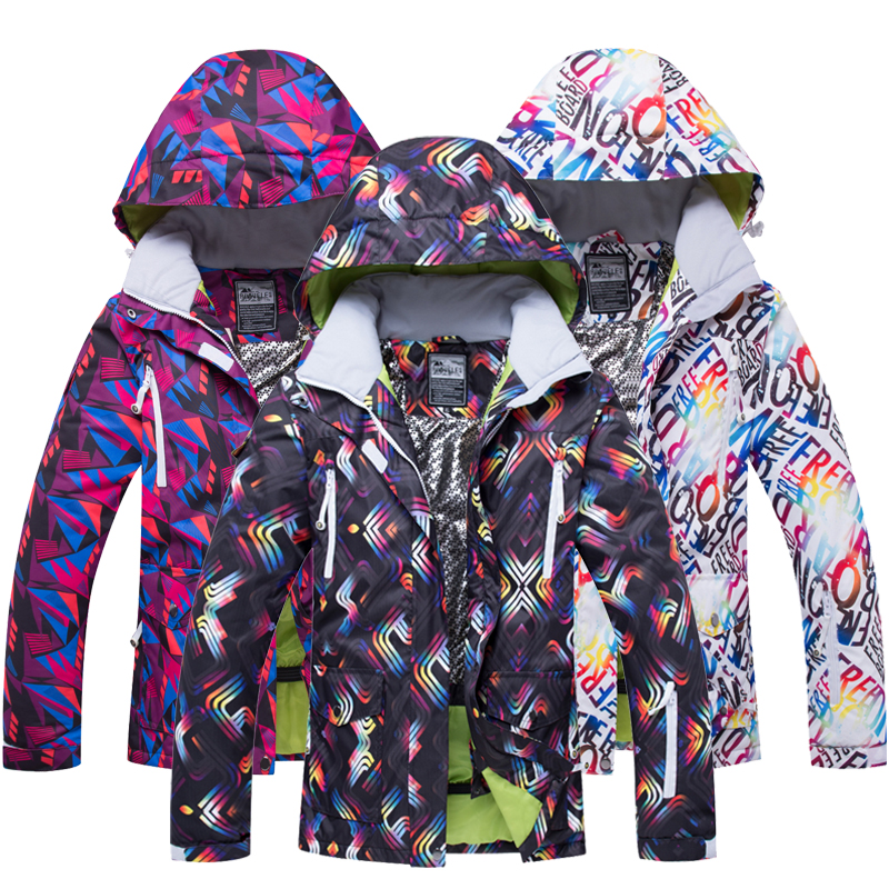 RIVIYELE Women Ski Jacket Snowboard Jacket Windproof Waterproof Super Warm Winter Clothing Skiing Coat Outdoor Sport Wear Coat 2018 riviyele men ski jacket snowboard jacket winter clothing windproof waterproof breathable outdoor sport wear super warm coat