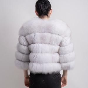 Image 3 - QIUCHEN PJ1801 2020 nouveauté femmes hiver réel manteau de fourrure de renard épais fourrure femmes veste dhiver livraison gratuite