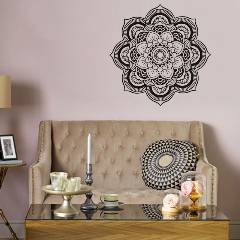 Art Mandala Pattern Wall Sticker Patterns Of Buddhism And Hindu Culture Funny Wall Decal for Home Decoration DC8159