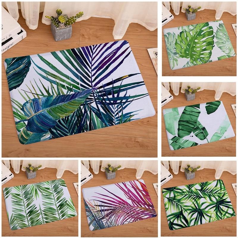 Тропический ковер с изображением растений ковры и ковры для гостиной, коврик для ванной комнаты 40x60 см фланелевый Придверный коврик alfombras
