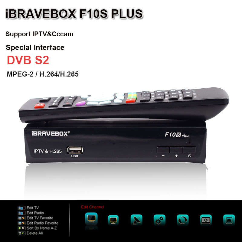 IBRAVEBOX Satellite Receiver F10S PLUS H.265 DVB-S/S2 Support Italy Spain Arabic With Wifi better than freesat v8 super frommer s® italy s best–loved driving tours